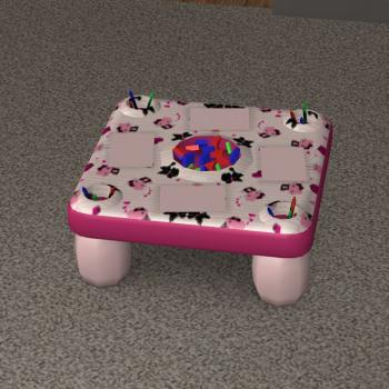 Activity table recolors object recolors affinity sims for Table exterieur hello kitty